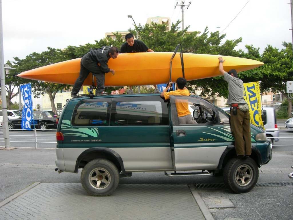 kayak カヤック 載せるの大変
