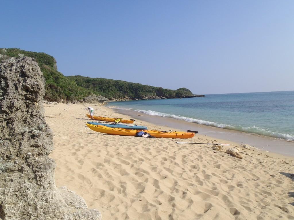 kayak カヤック 砂浜