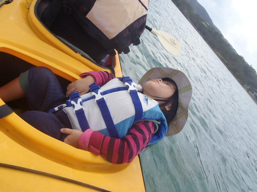kayak カヤック 寝てます