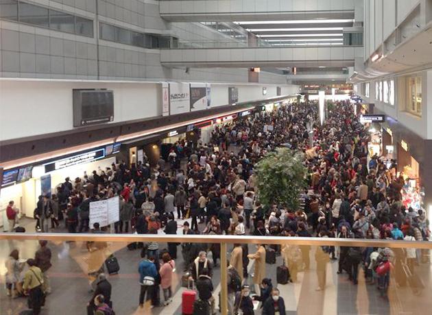 空港の混雑
